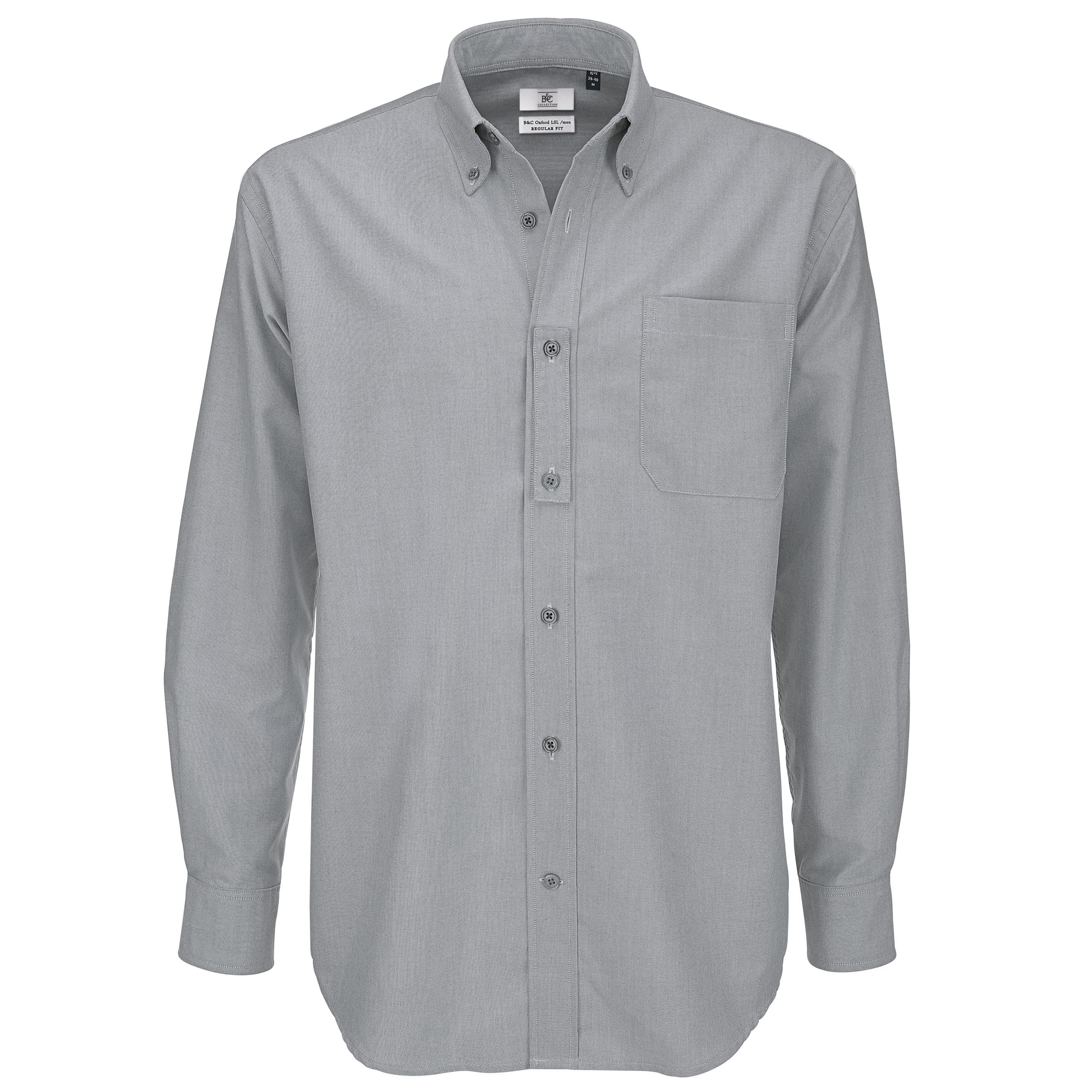 Men b c collection button down collar long sleeve formal for Mens formal white shirts