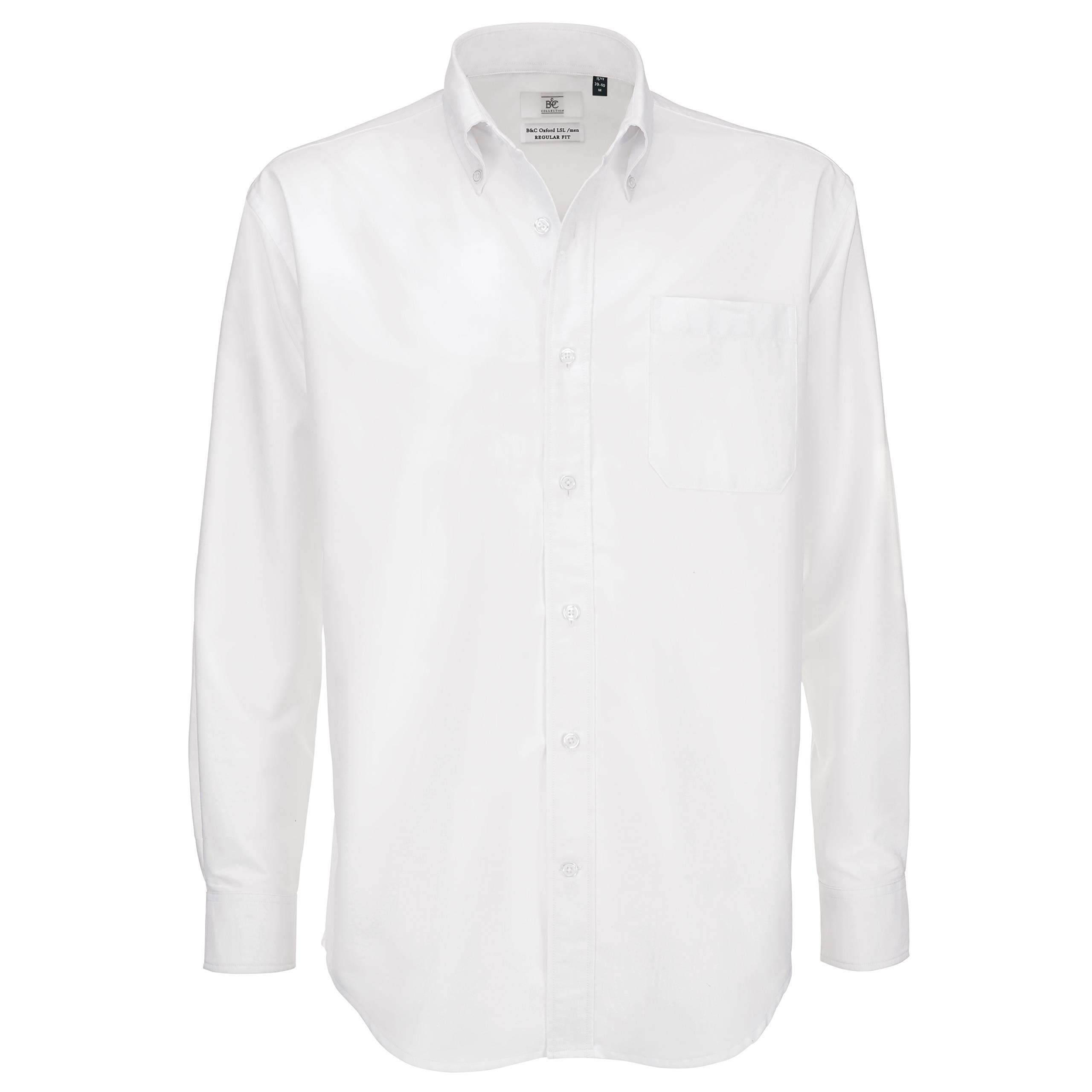 Men b c collection button down collar long sleeve formal for Mens button collar shirts