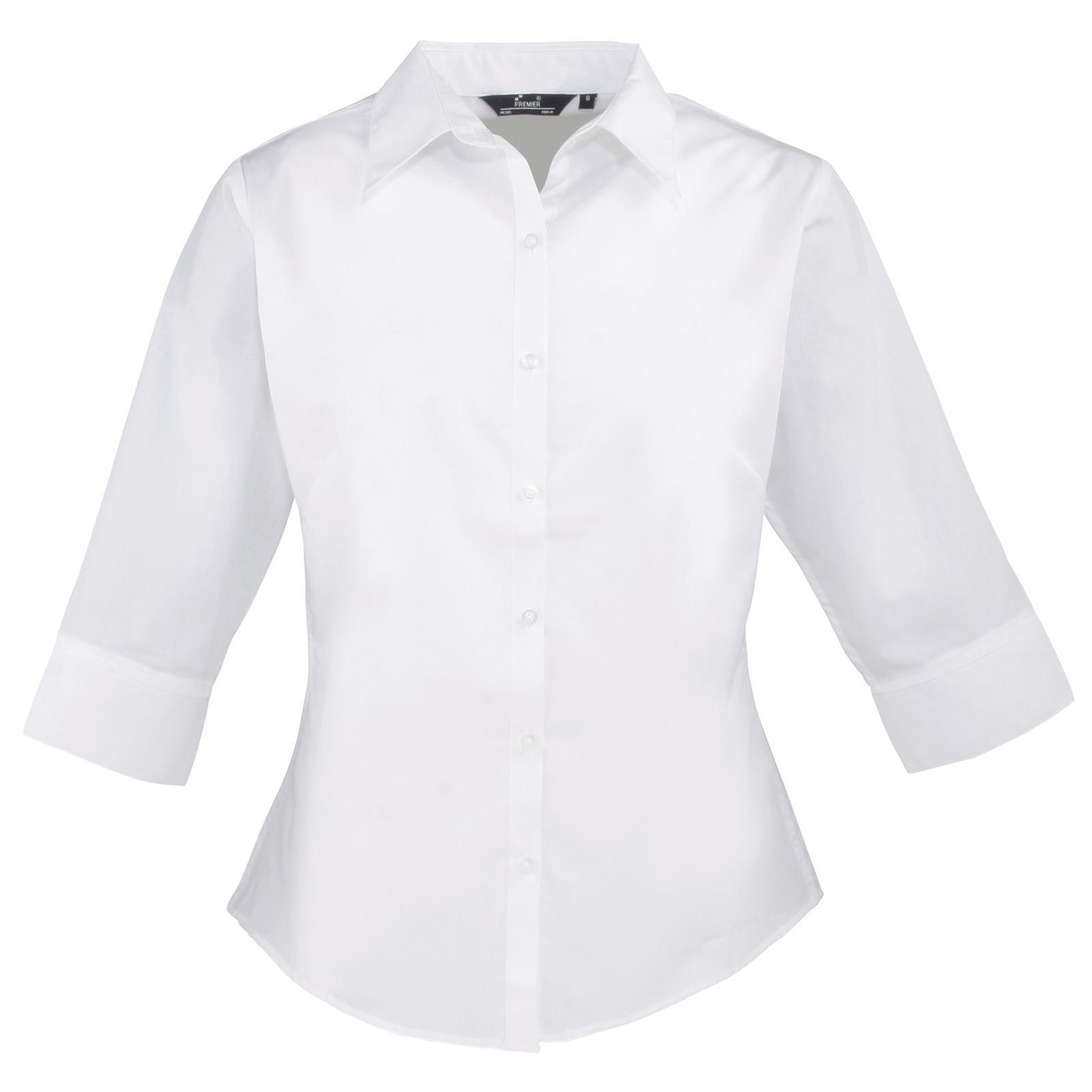 Womens White Blouse Short Sleeve