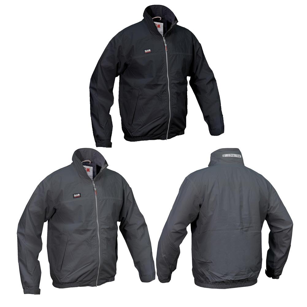 hitachi heated jacket. mens slam rubber grip waistband waterproof zip summer sailing jacket size s-2xl hitachi heated h