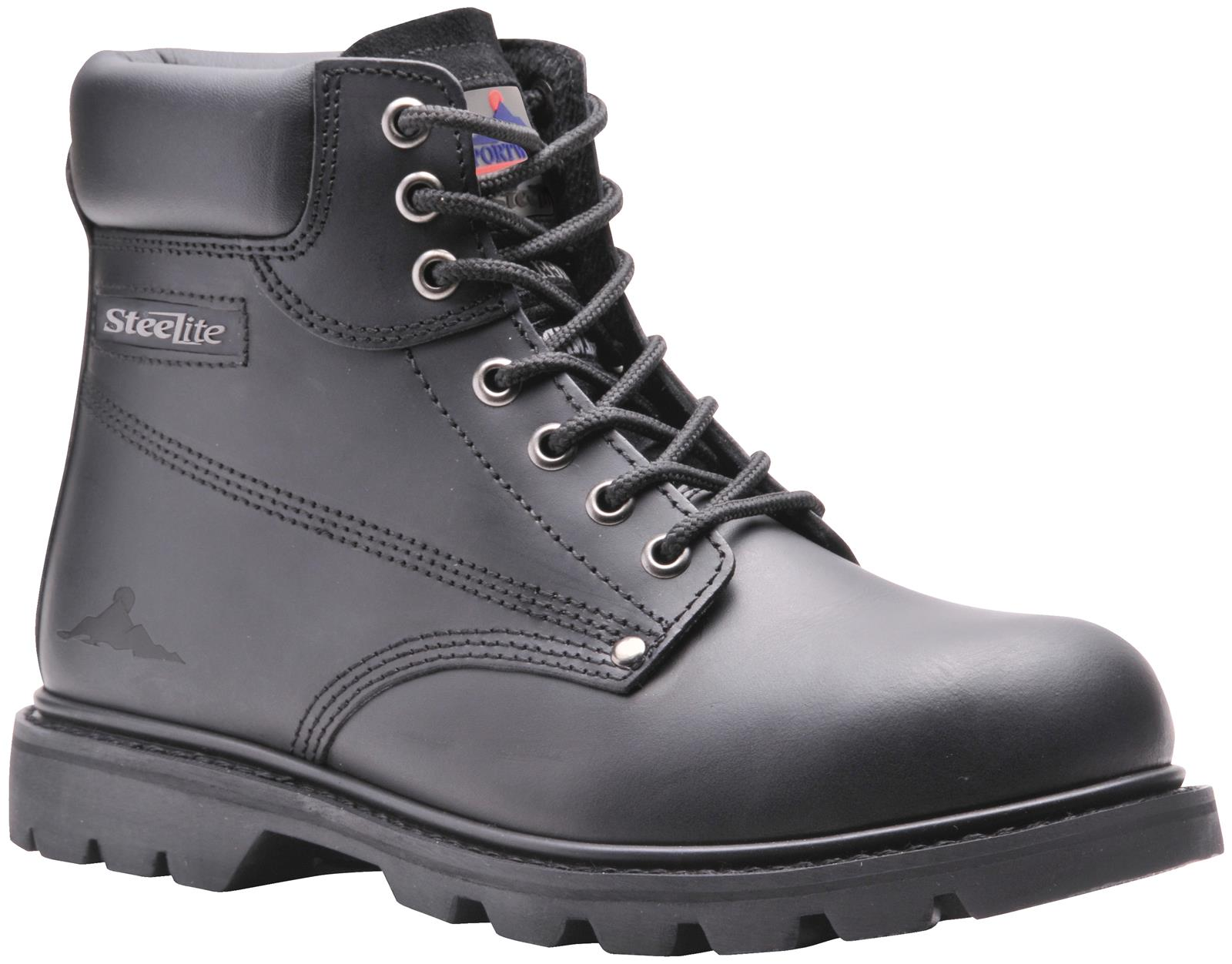 New Hombre Hombre Hombre Portwest Negro Padded Breathable Steelite Welted Safety botas Talla 6-12 6d3a07