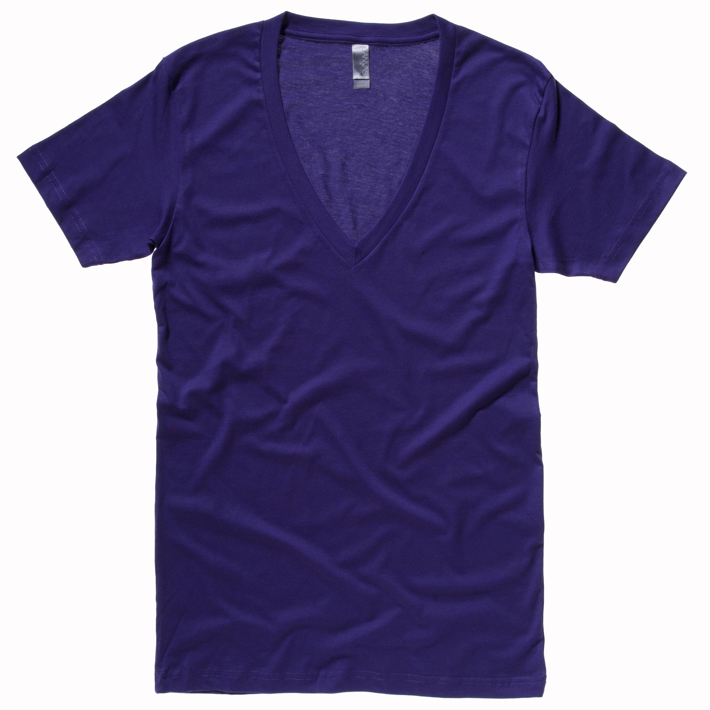 New-BELLA-CANVAS-Unisex-Cotton-Jersey-Deep-V-Neck-T-Shirt-in-3-Colours-S-XXL