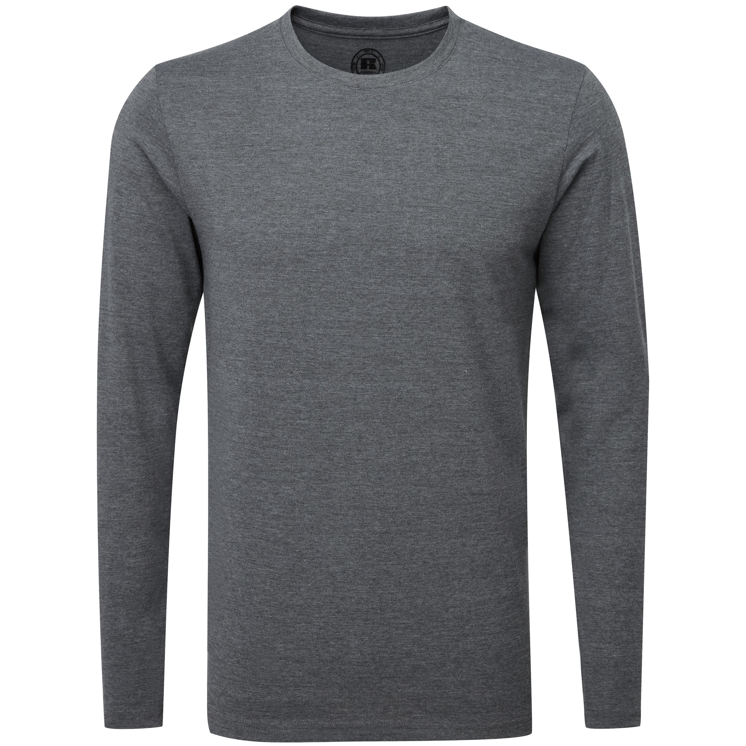 Sizes XS-2XL Men/'s Russell Long Sleeve  Classic Cotton Polo T Shirt J569L