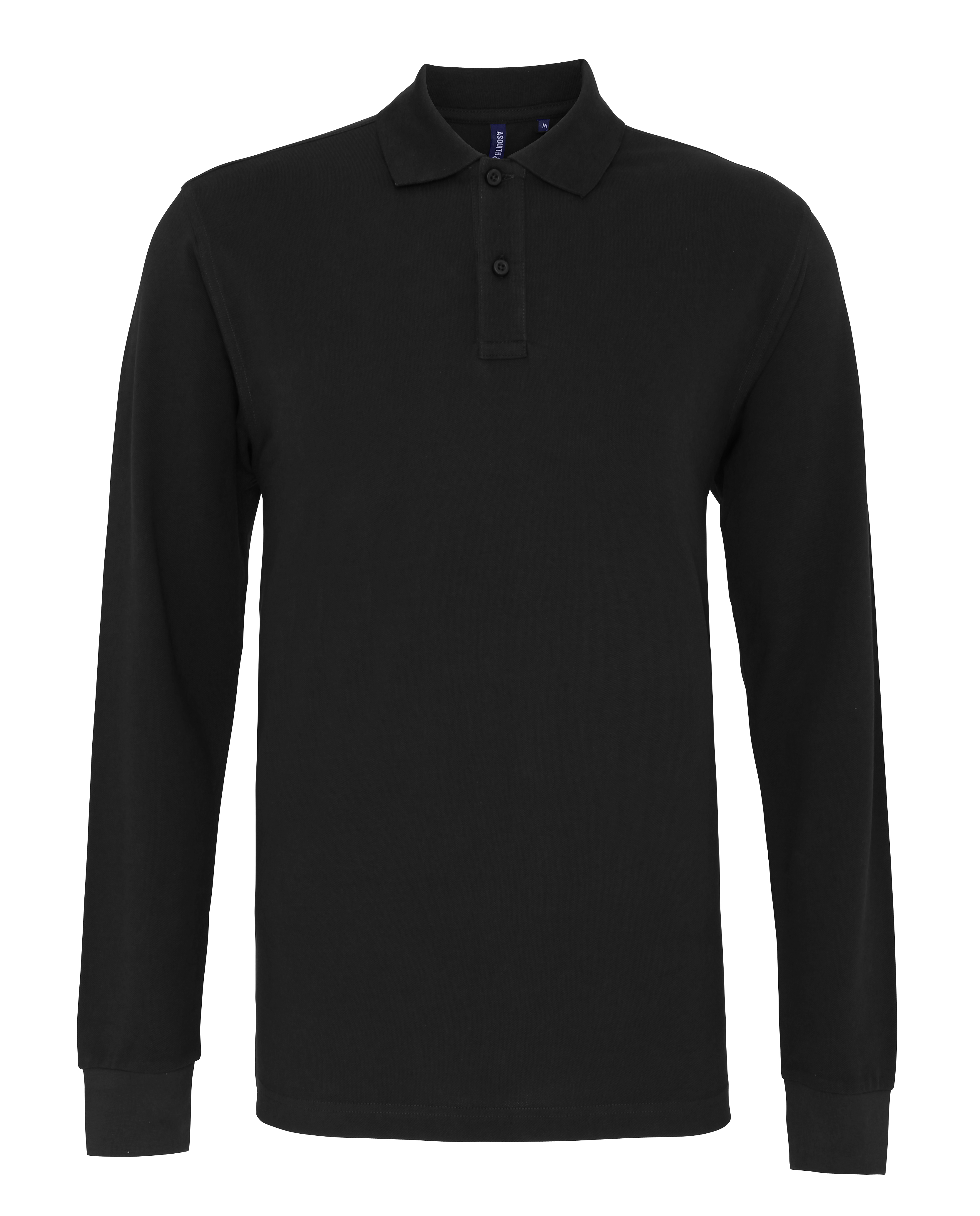 Mens-Asquith-amp-Fox-Classic-Fit-Long-Sleeved-Knitted-Cuff-Polo-Shirt-Size-S-5XL
