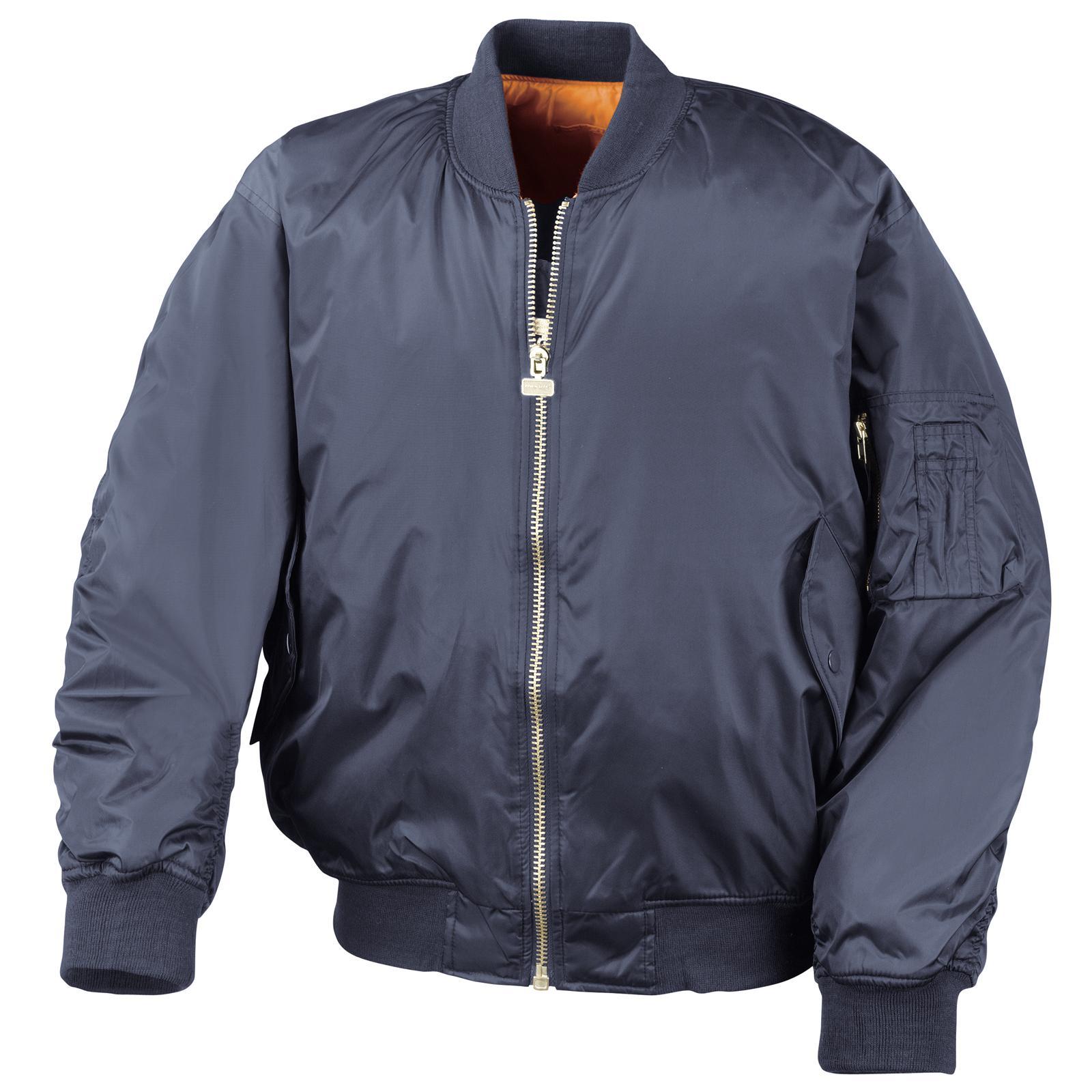 new result mens casual reversible flying bomber jacket in black navy s xxl ebay. Black Bedroom Furniture Sets. Home Design Ideas