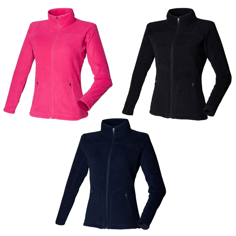 New SKINNI FIT Womens Ladies Fitted Micro Fleece Jacket in 3 ...