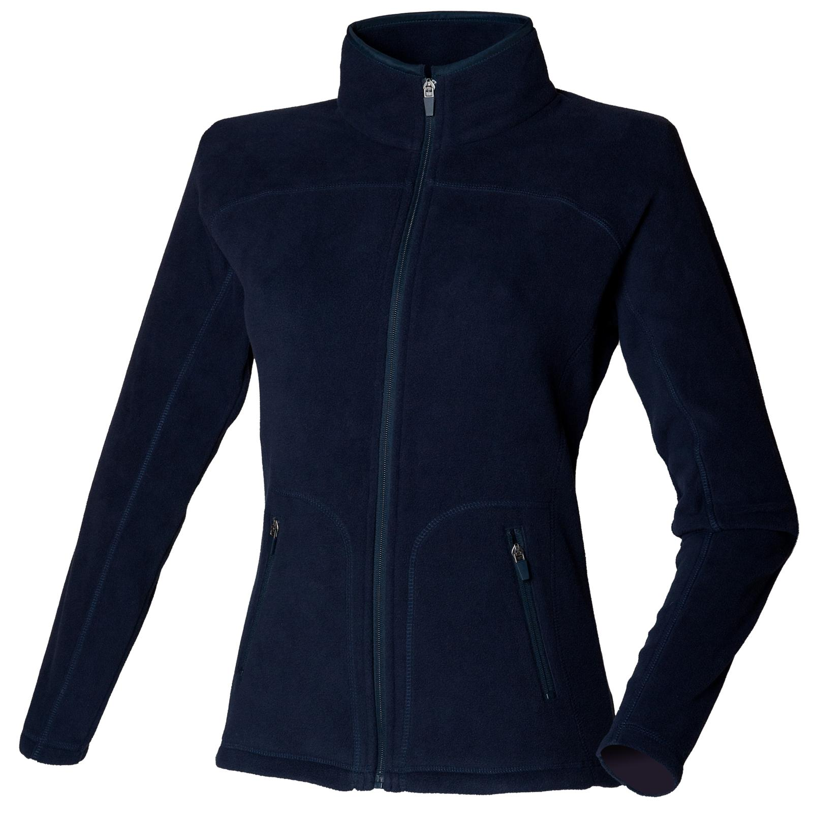 skinni fit womens ladies fitted micro fleece jacket in 3 colours xs