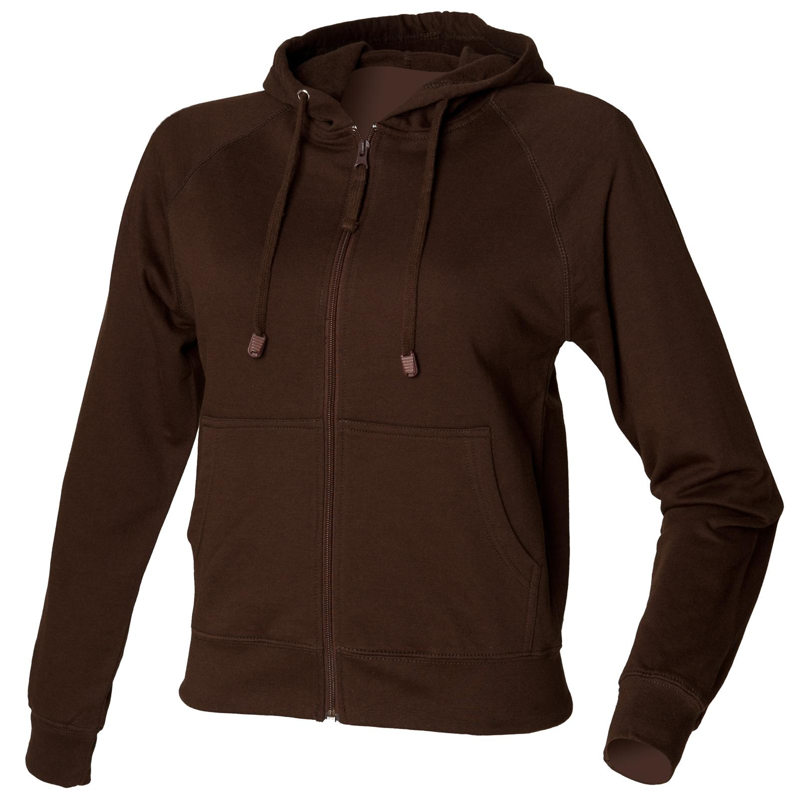 New-SKINNI-FIT-Womens-Ladies-Cotton-Zip-Up-Hoodie-Jacket-in-9-Colours-S-XL