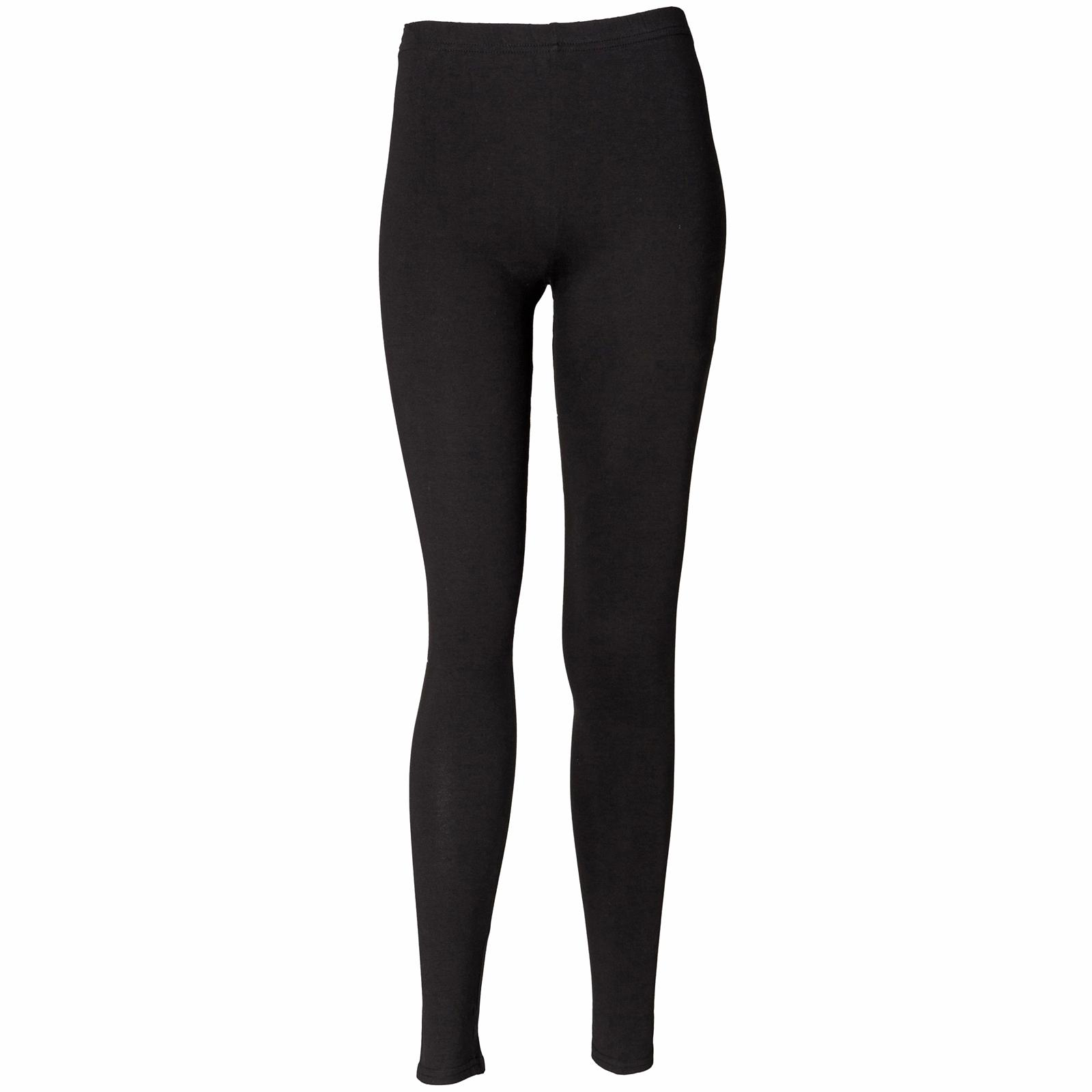 New-SKINNI-FIT-Womens-Ladies-Elasticated-Leggings-in-Black-S-XL