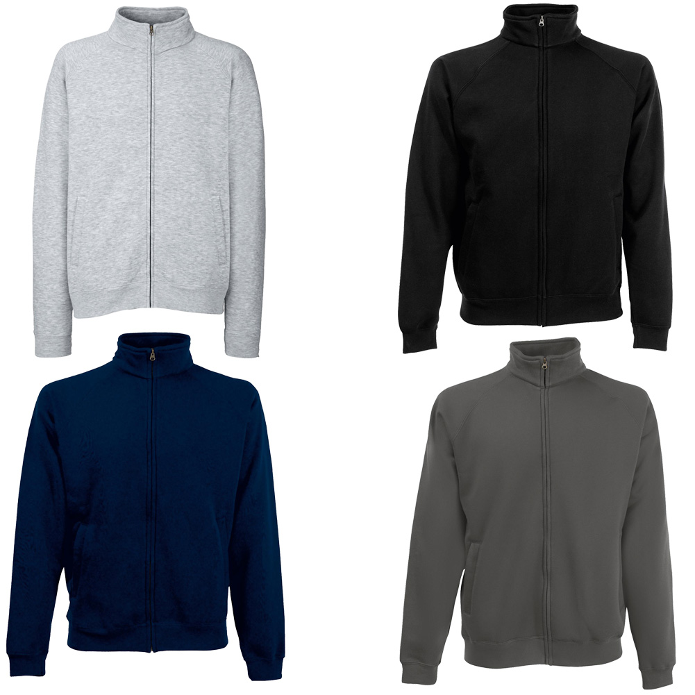 new fruit of the loom mens full zip sweatshirt jacket in 4 colours s xxl ebay. Black Bedroom Furniture Sets. Home Design Ideas