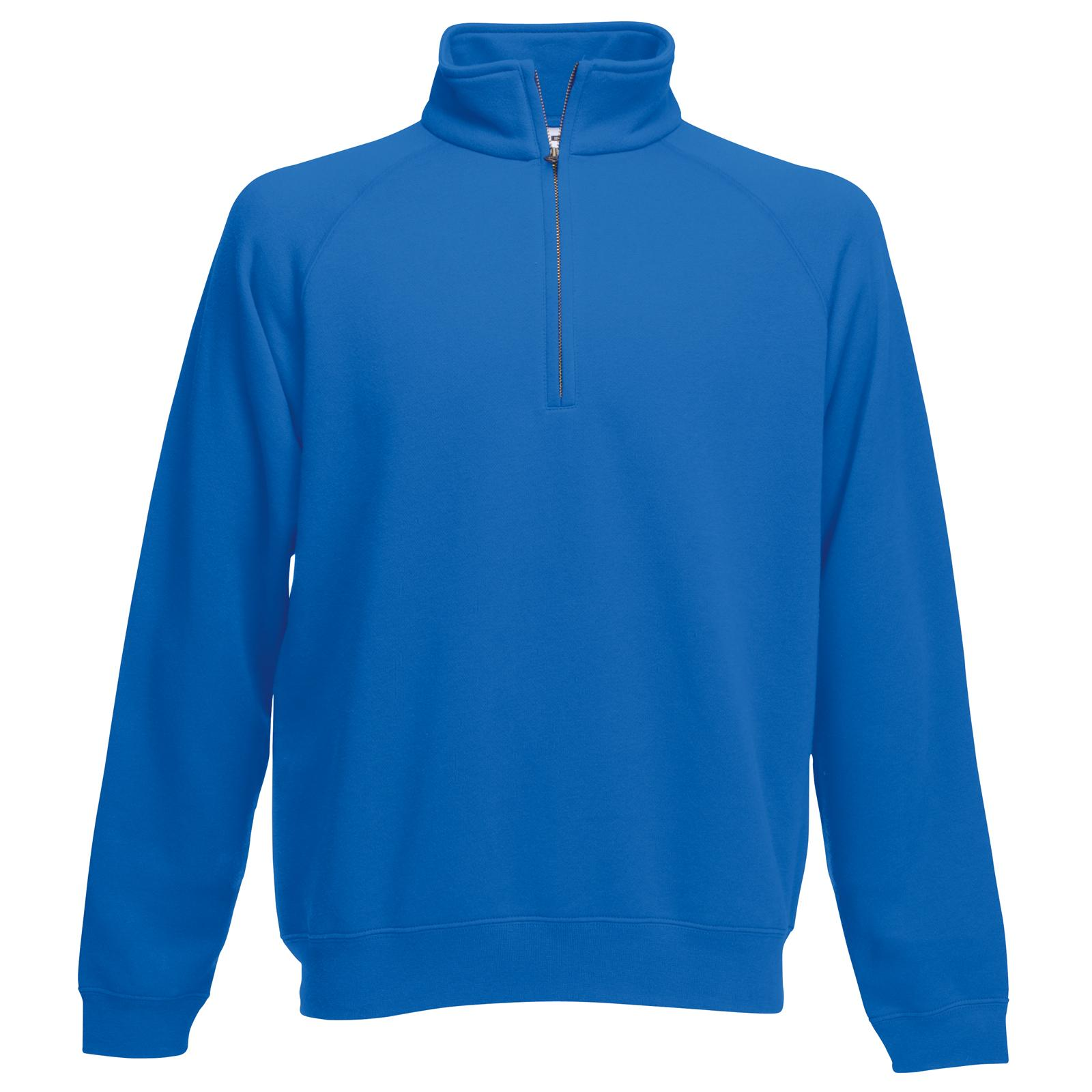 new fruit of the loom mens 1 2 half zip neck sweatshirt in 7 colours s xxl ebay. Black Bedroom Furniture Sets. Home Design Ideas