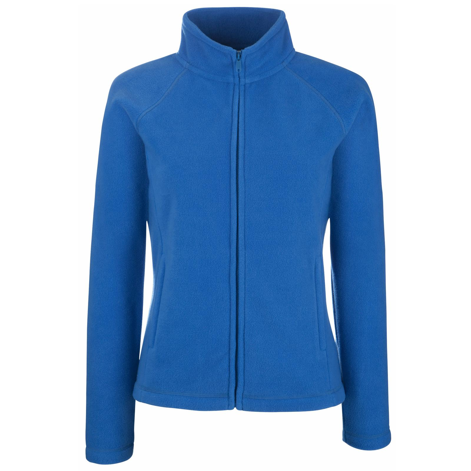Fruit of The Loom Womens Ladies Fitted Zip Fleece Jacket 5 Colours ...