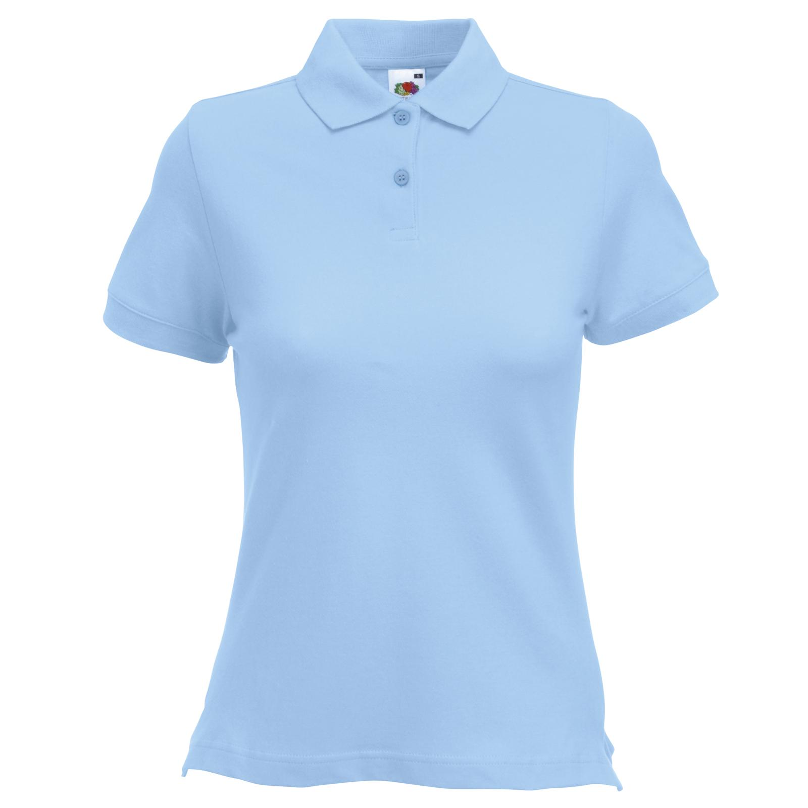 Fruit of The Loom Womens Ladies Fitted Cotton Polo Shirt 8 Colours ... efc0e4d12