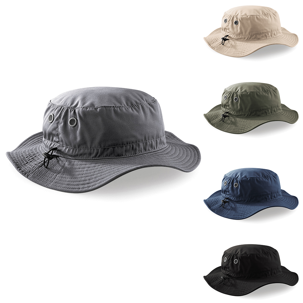 e55cd66ef66 Details about New BEECHFIELD Cargo Brimmed Army Bucket Hat in 4 Colours One  Size