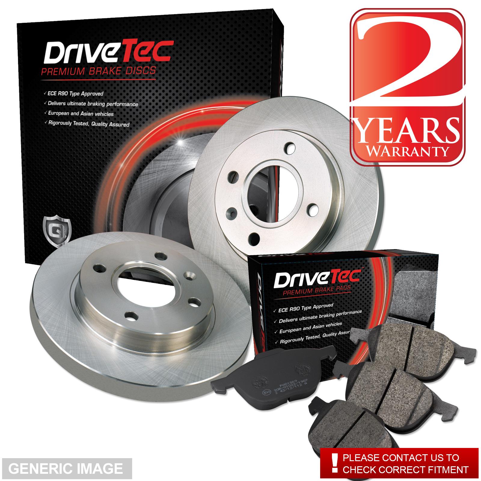 Vauxhall Insignia 2.0 CDTi 158 Drivetec Rear Brake Pads 292mm For Solid Discs