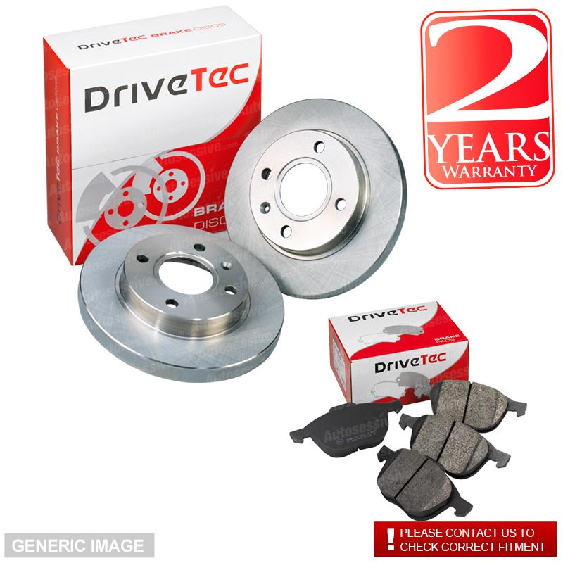 VW Transporter T4 2.4 D Bus 77 Drivetec Rear Brake Pads 280mm For Solid Discs
