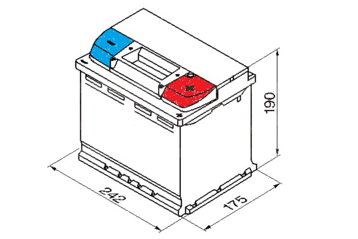Yuasa Car Battery Calcium 480CCA 55Ah T1 For RENAULT Kangoo MK1 1.5 dCi
