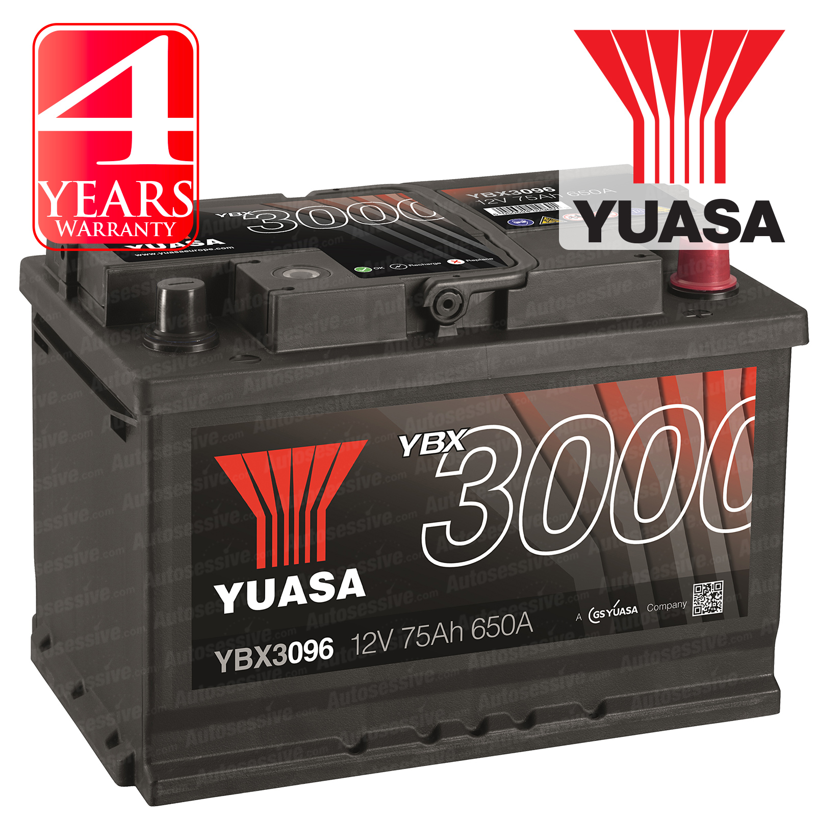 Yuasa Car Battery Calcium 12v 650cca 75ah T1 For Honda Accord Mk7 2 Cdti