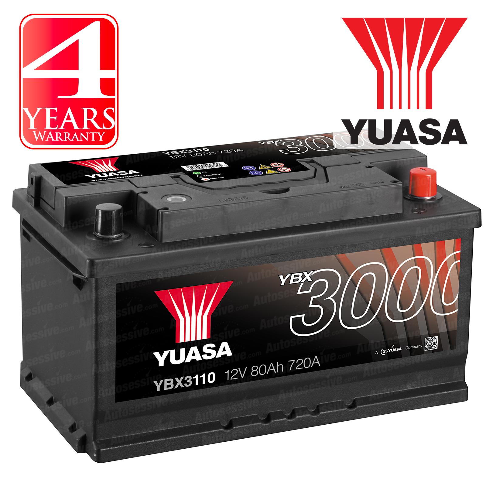 Yuasa Car Battery Calcium 12v 720cca 80ah T1 For Bmw 3 Series 330 E46 Ci