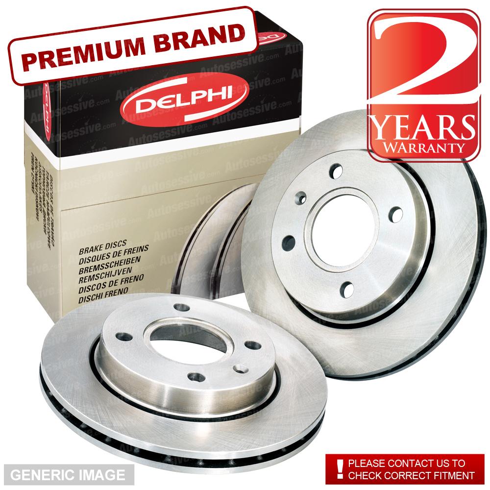 Details about Front Delphi Brake Discs 258mm ø Vented Pair - Replacement  Axle Set BG3359