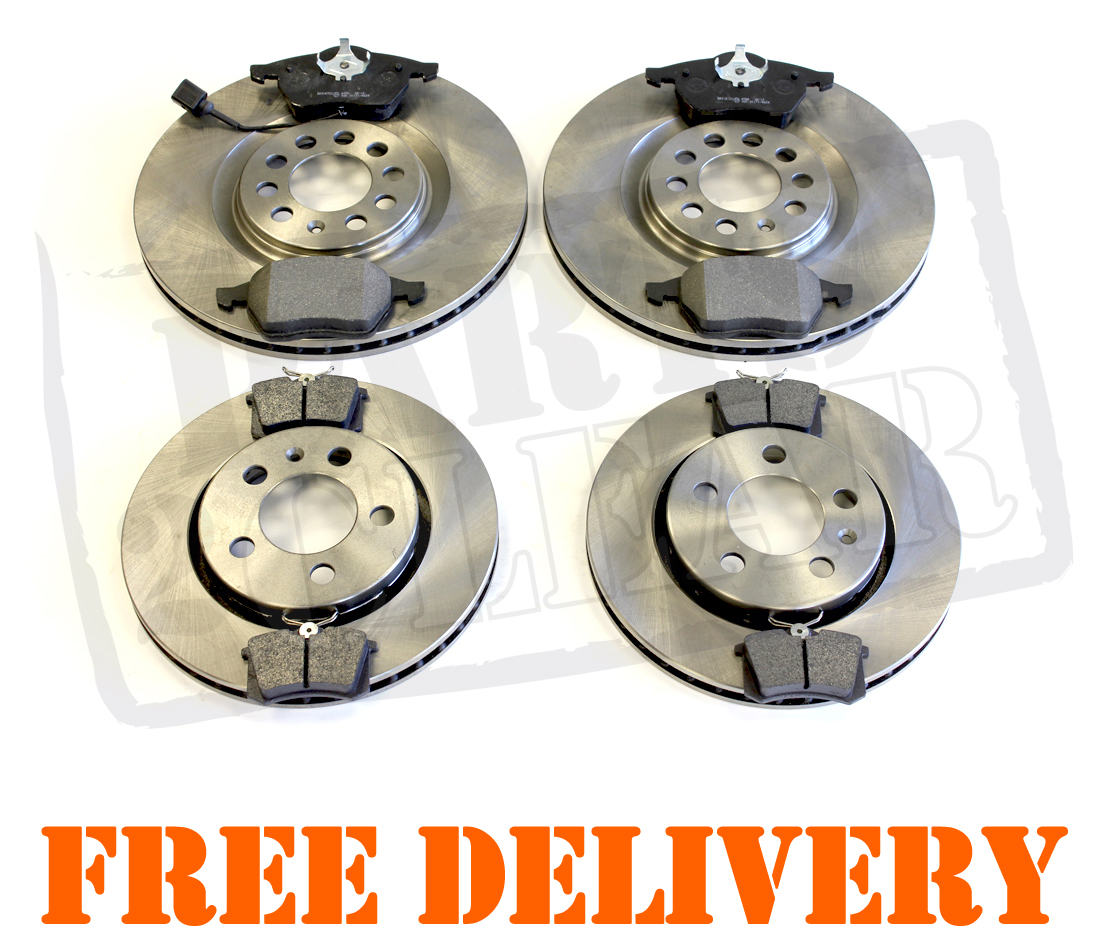 Rear Audi TT 1.8 Turbo 225 BHP Front Brake Discs Pads 1998-2006 Vented Front
