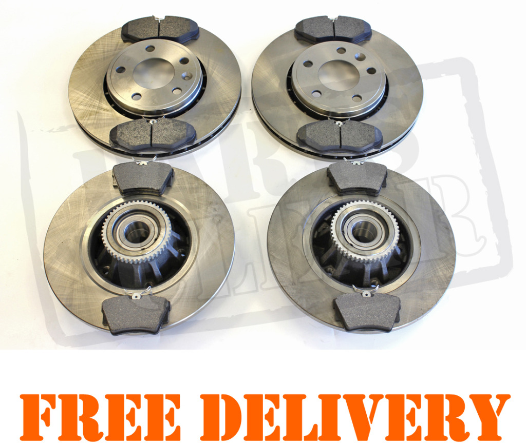 Renault Trafic II 2001 Front /& Rear Brake Discs /& Pads With ABS Ring /& Bearing