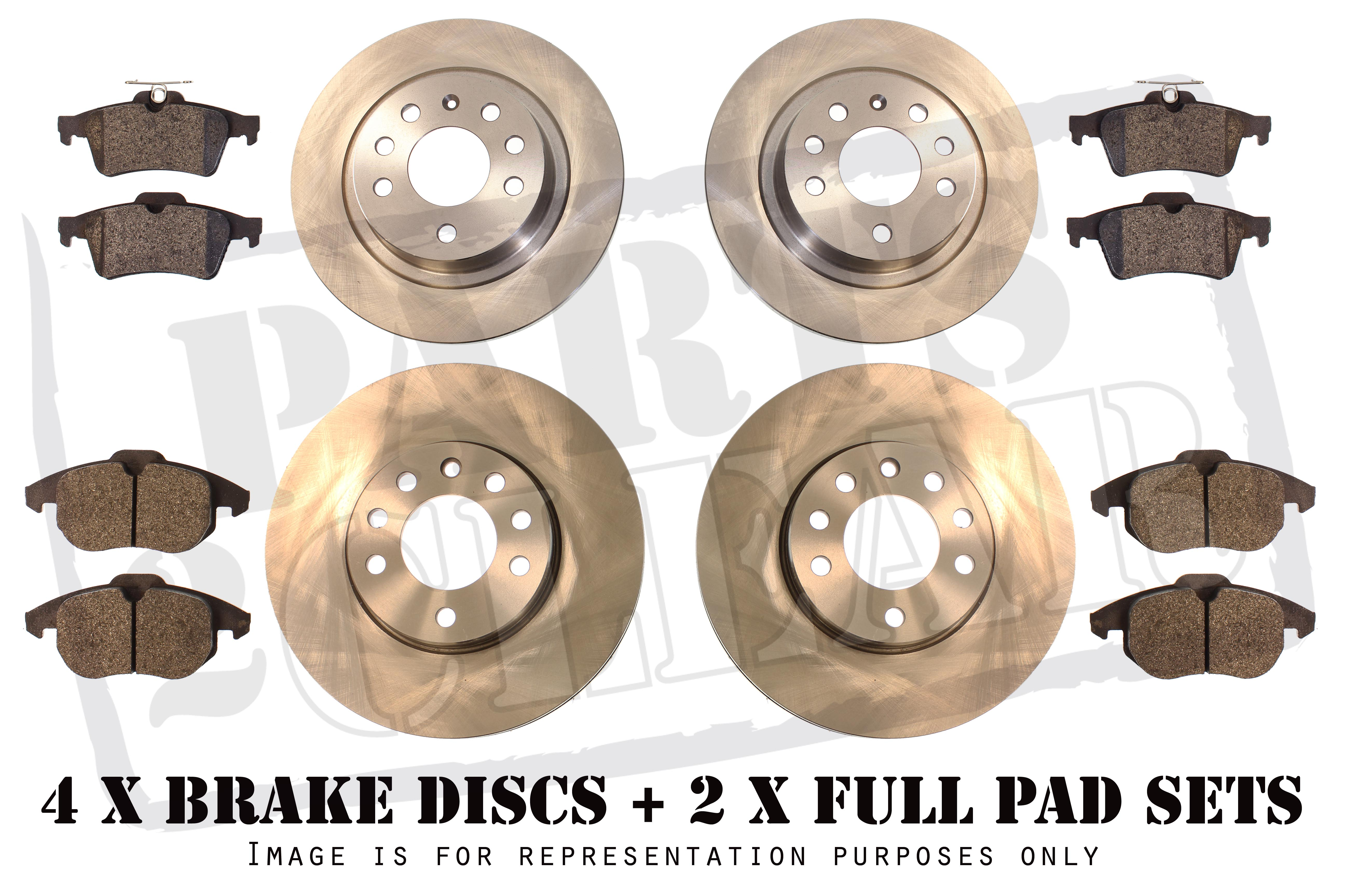 Rear Brake Discs and Pads to fit Ford Fiesta 2.0 ST ST150