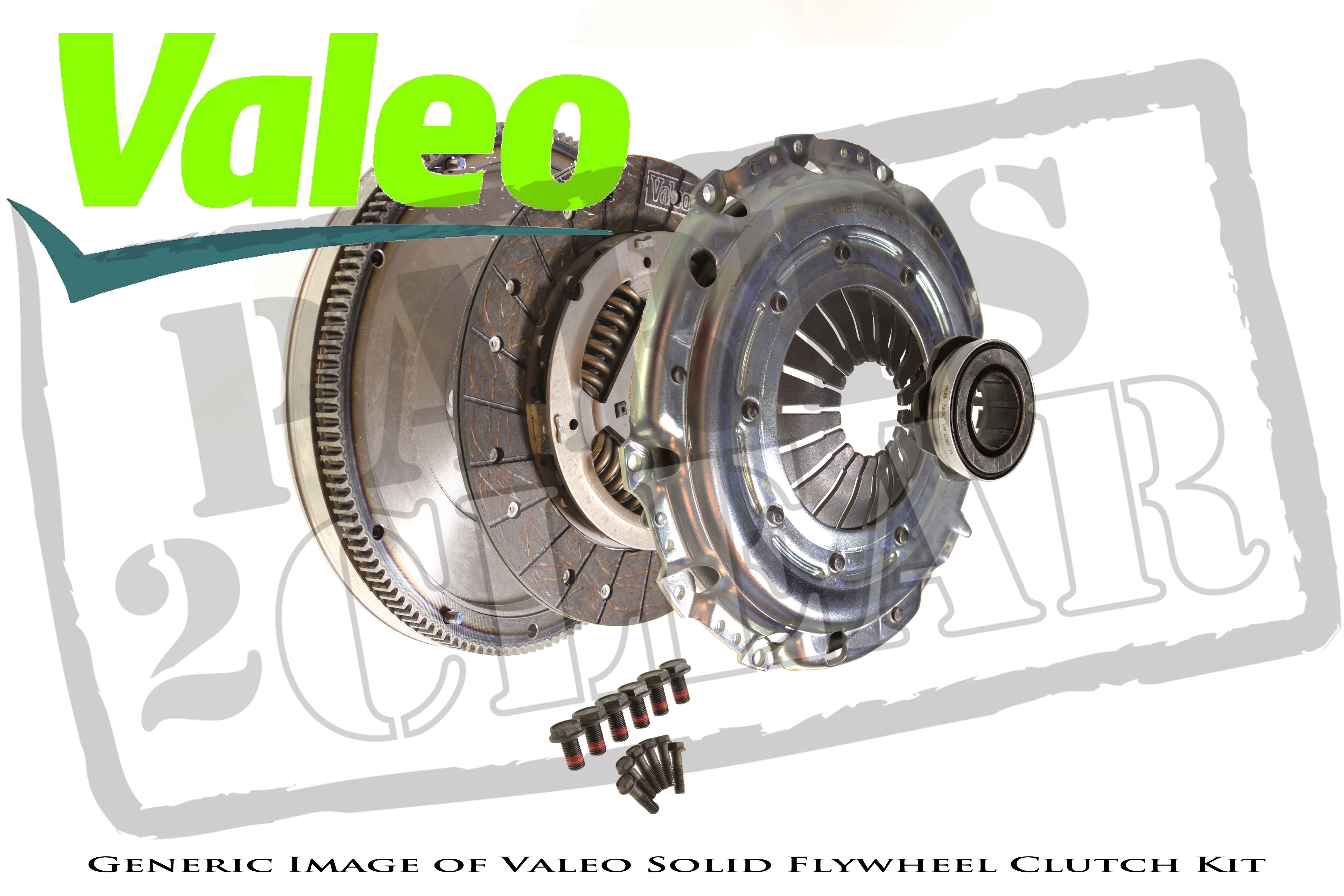 VW Transporter 2.5 Tdi T4 Solid Flywheel Clutch Kit Valeo 90 Bhp 98-03