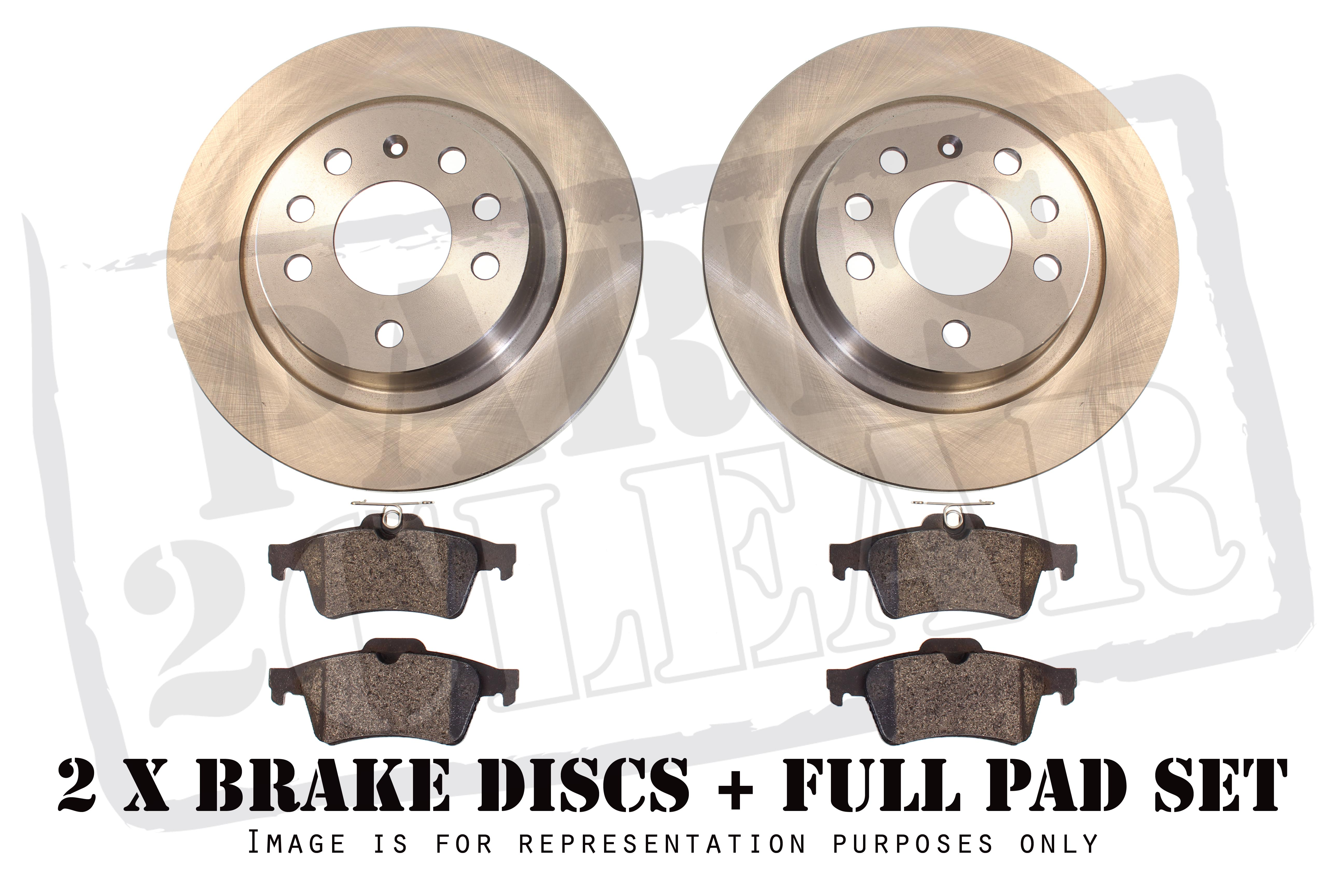 FRONT AND REAR BRAKE DISC PADS FITS FORD KUGA 2.0 TDCI 2.5 2008