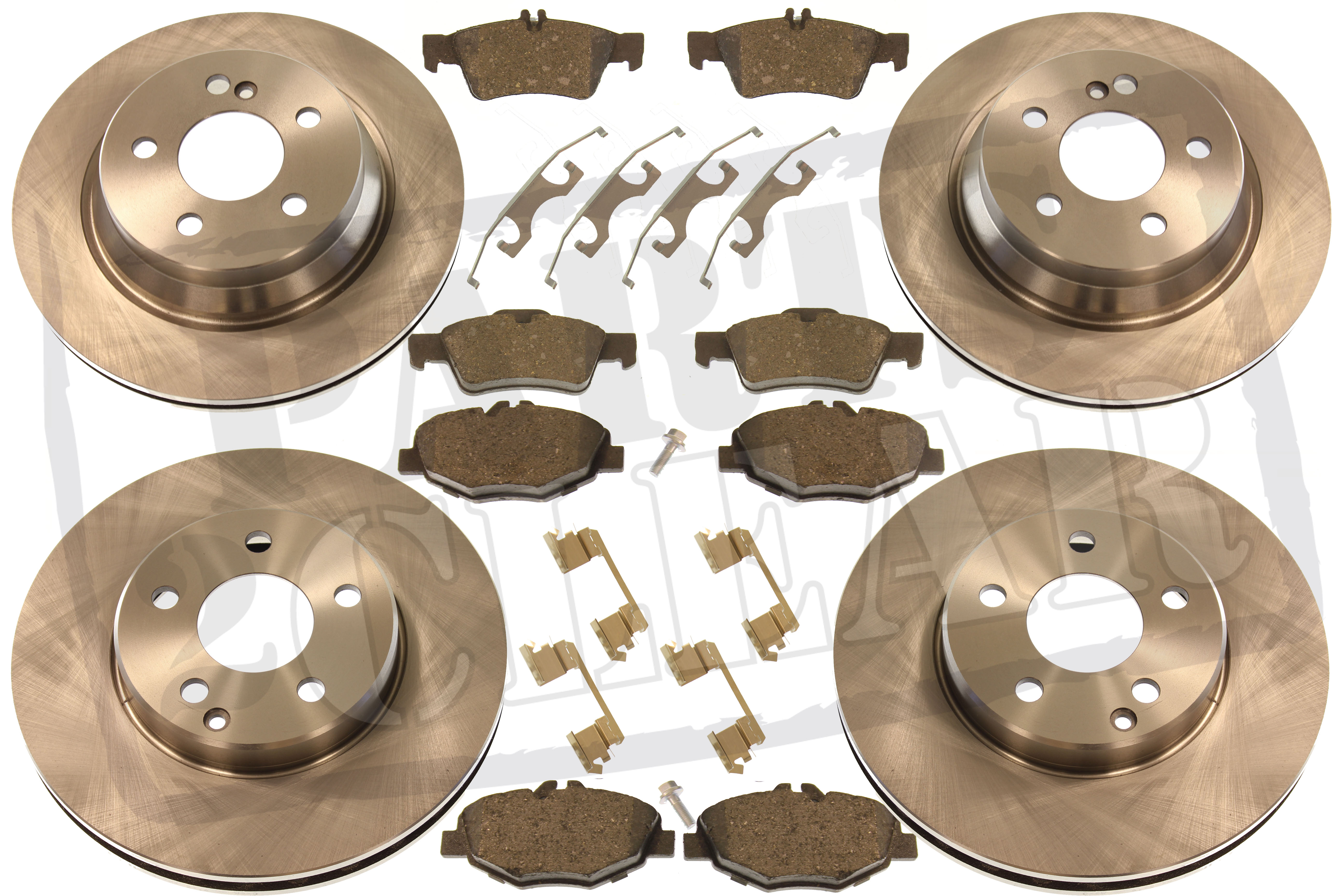 2003-2010 FOR MERCEDES W211 E200 E220 CDI FRONT BRAKE DISCS AND PADS SET
