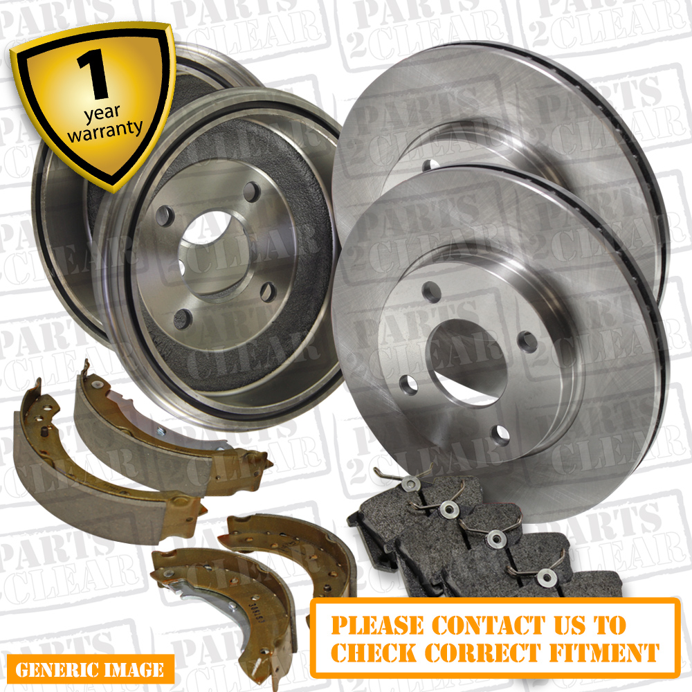 FRONT BRAKE DISCS AND PADS FOR FIAT 500 1.2 1//2008