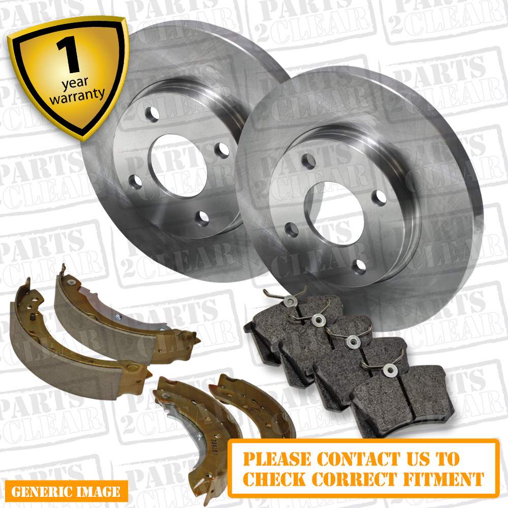 OEM SPEC FRONT REAR DISCS AND PADS FOR OPEL ZAFIRA 1.8 2001-05