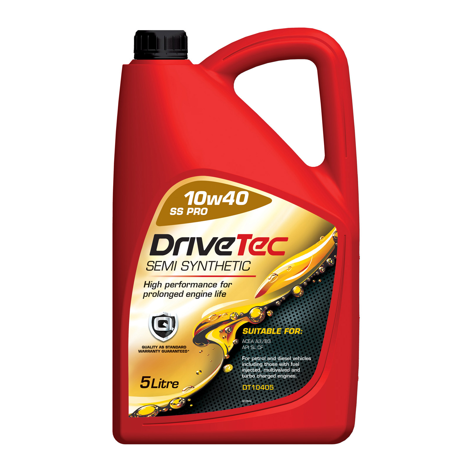 drivetec 10w40 10 40 engine oil 5l 5 litre semi synthetic. Black Bedroom Furniture Sets. Home Design Ideas