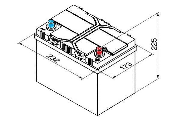 Yuasa Car Battery Calcium 12V 450CCA 60Ah T1 For Mazda Familia 1.8 Turbo