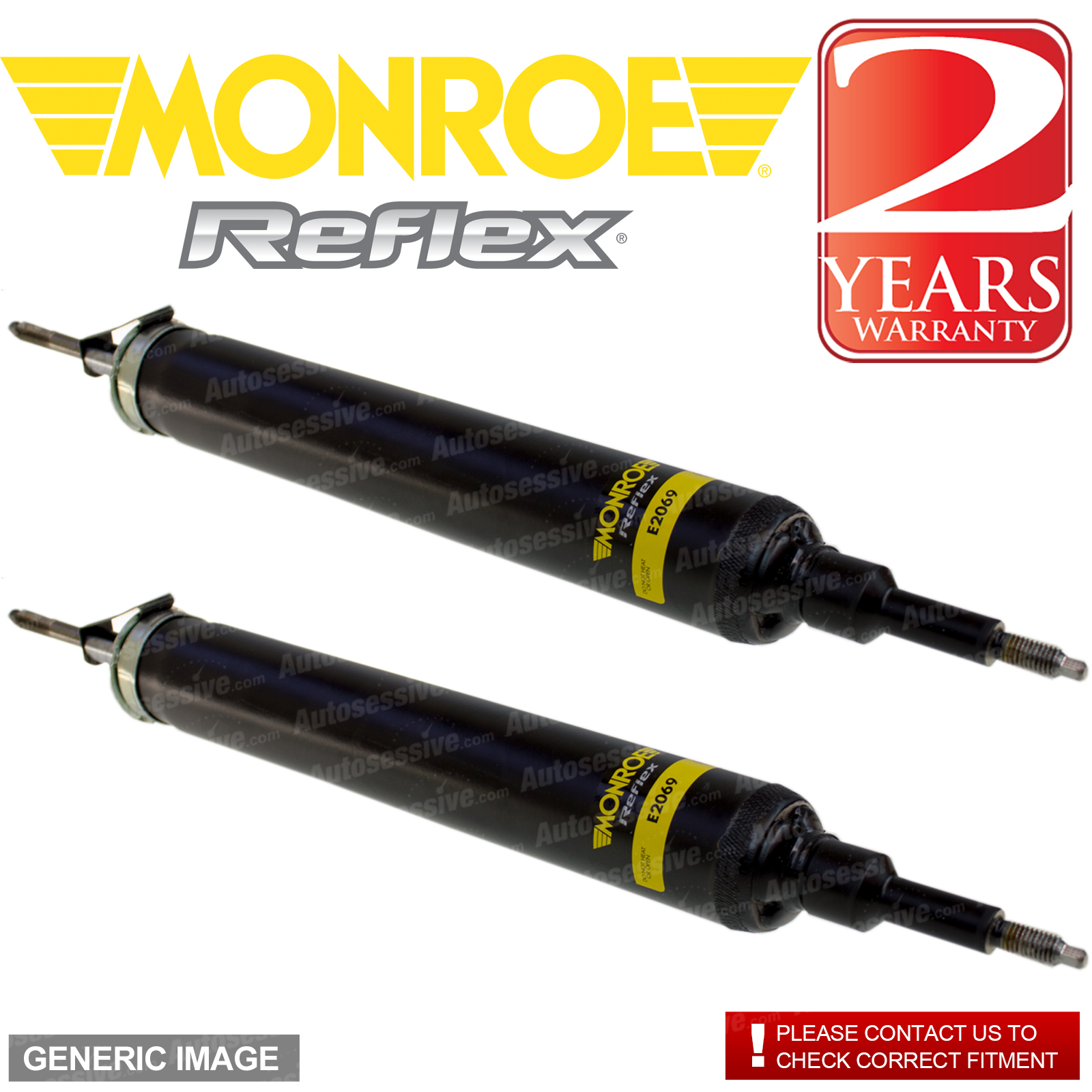 Details about Monroe Rear Right Left Reflex Shock Absorber x2 DAIHATSU  CHARADE 1 5 66kW