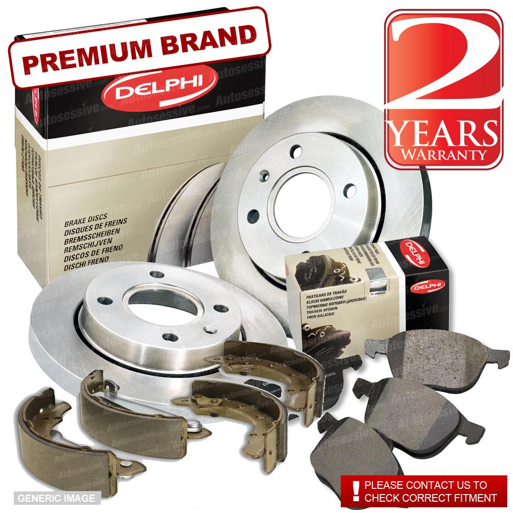 Daihatsu Terios 1.3 Front Brake Discs Pads 273mm Solid Rear Shoes 229mm 85BHP