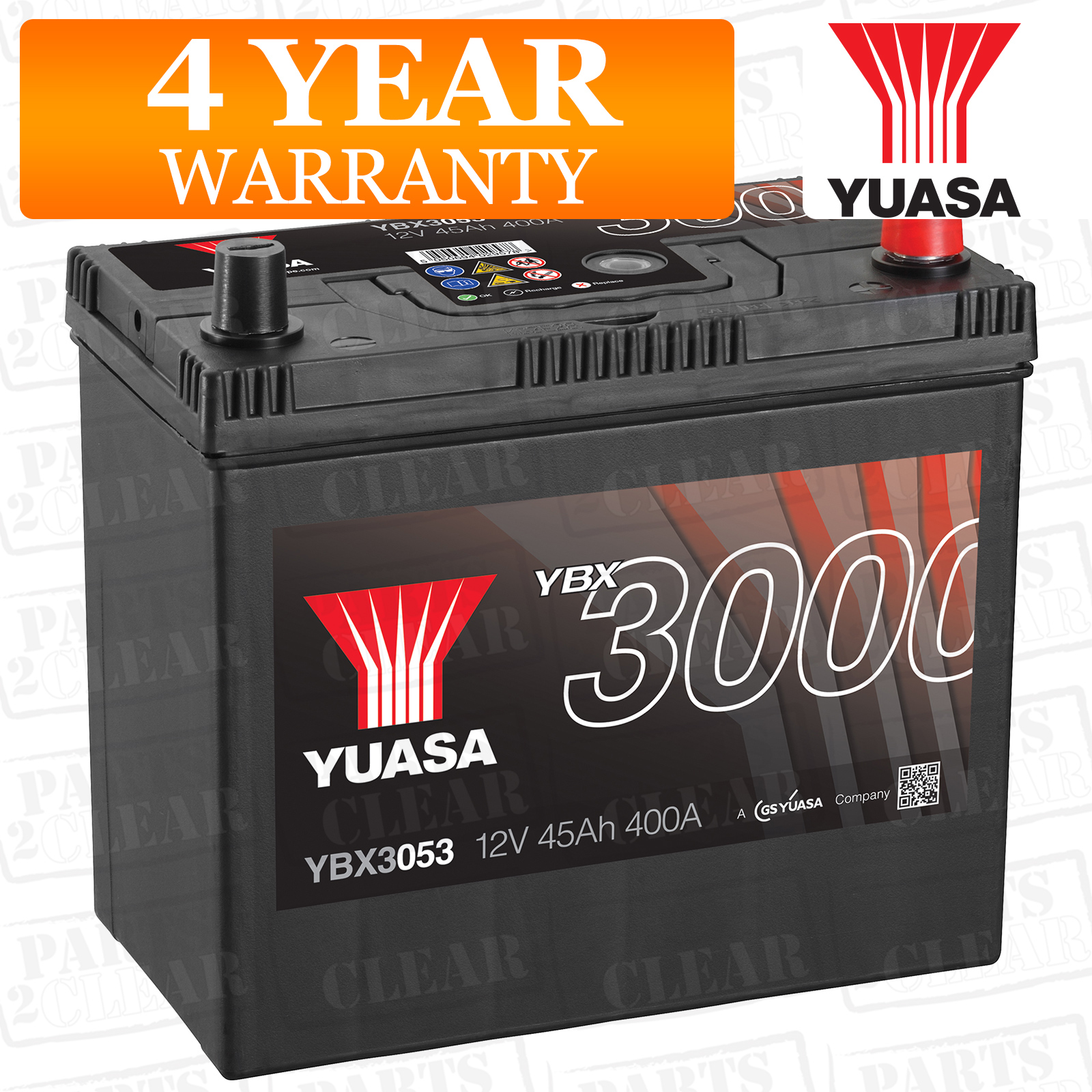 Yuasa Car Battery Calcium Black Case 12v 400cca 45ah T1 T3 For Timing Belt Suzuki Liana 16