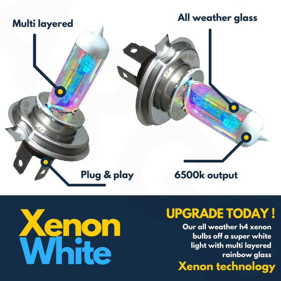 H4 Xenon White 55w 472 Headlight Bulbs Kymco Dink 125