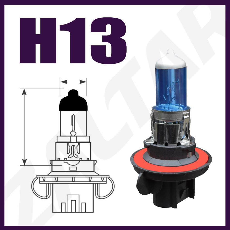 2x H12 55w Super White Xenon Headlight Bulbs 12v 712