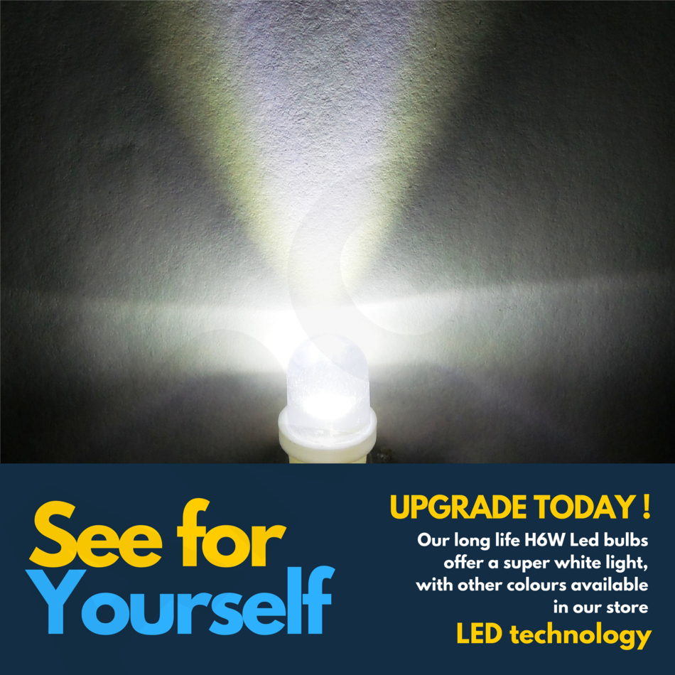 Xenon 5 SMD LED 433 434 BAX9S H6W 433C Décalage baïonnette Ampoule 6000K blanc