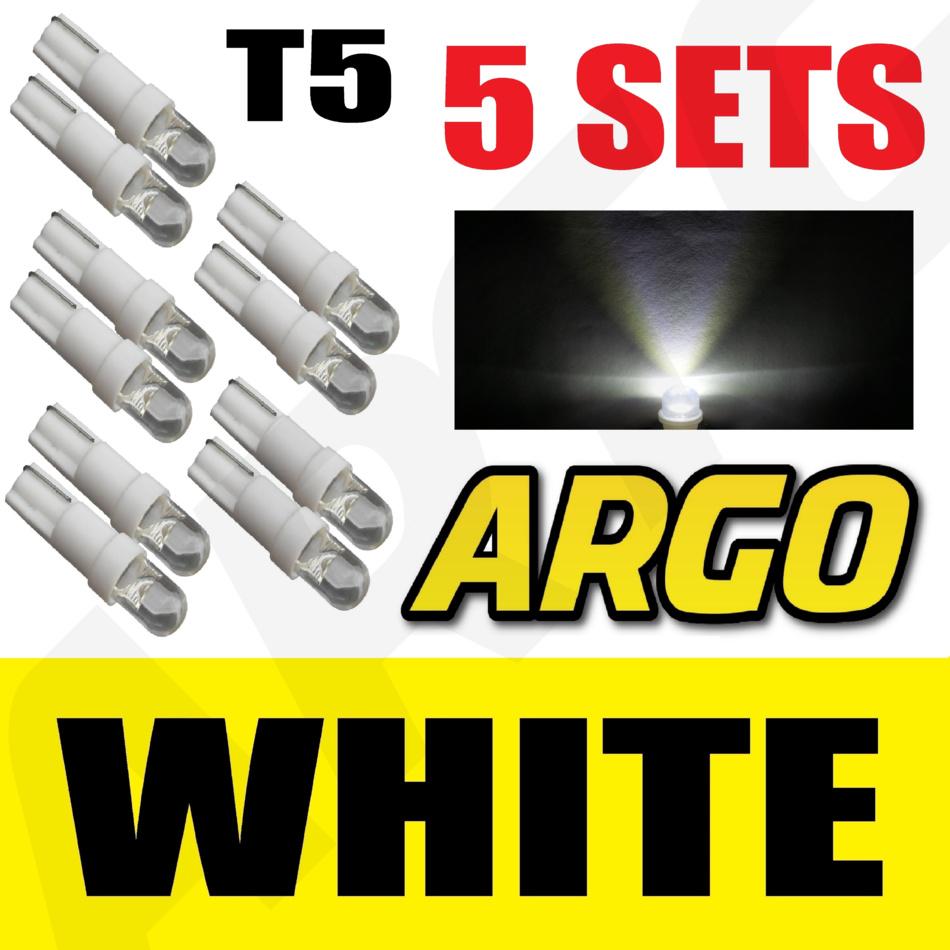 5 X SETS T5 286 LED ULTRA BLUE DASHBOARD LIGHT BULBS XENON 12V LAMP DIALS CAR