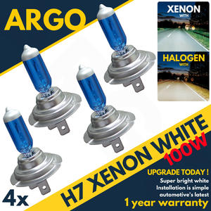 H7 Xenon Vision Headlight White 100w Halogen Hid Effect Look Headlamp Bulbs 4 x Preview