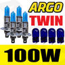 View Item 4 PACK H1 XENON WHITE 100W BULBS 448 + FREE XENON / T10 / W5W / 194 SIDELIGHT NUMBER PLATE LICENCE BULBS