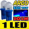 View Item 501 T10 W5W LED XENON ICE BLUE SIDELIGHT NUMBER PLATE LIGHT BULBS REPLACEMENT UPGRADE