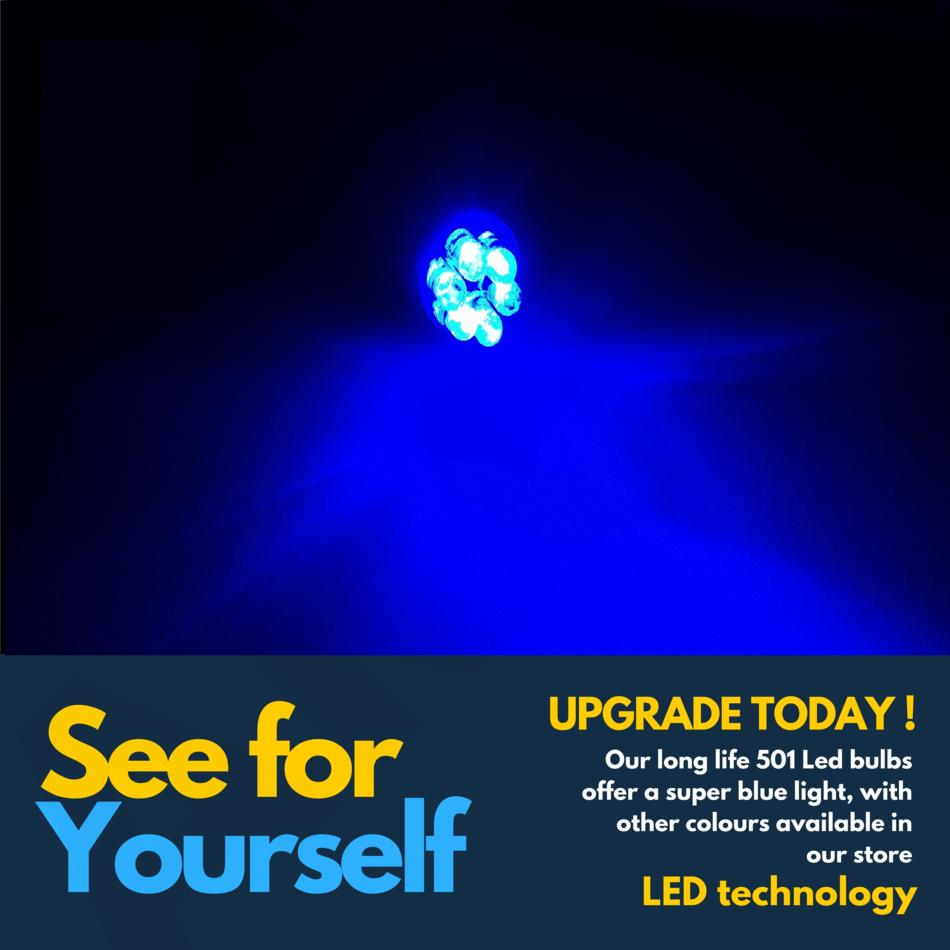 7 LED XENON BLUE 501 194 T10 W5W SIDELIGHT BULBS LEXUS IS200