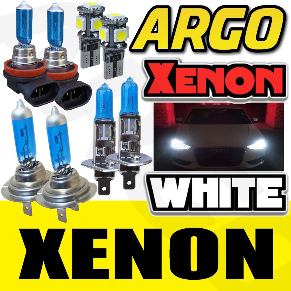 Audi A4 B6 H7 H7 501 55w ICE Blue Xenon HID High//Low//Side Headlight Bulbs Set