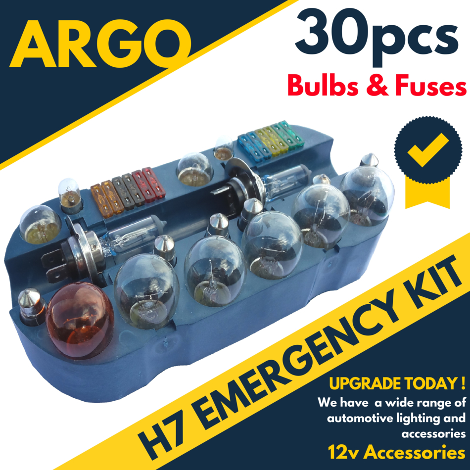 30 Pcs Vauxhall Astra Mk V H7 Emergency Replacement Bulb Fuse Set Reg Box Sentinel Spare Kit Car