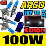 View Item H1 H7 100W 501 SUPER WHITE XENON HID UPGRADE HIGH/LOW/SIDE LIGHT BEAM BULBS