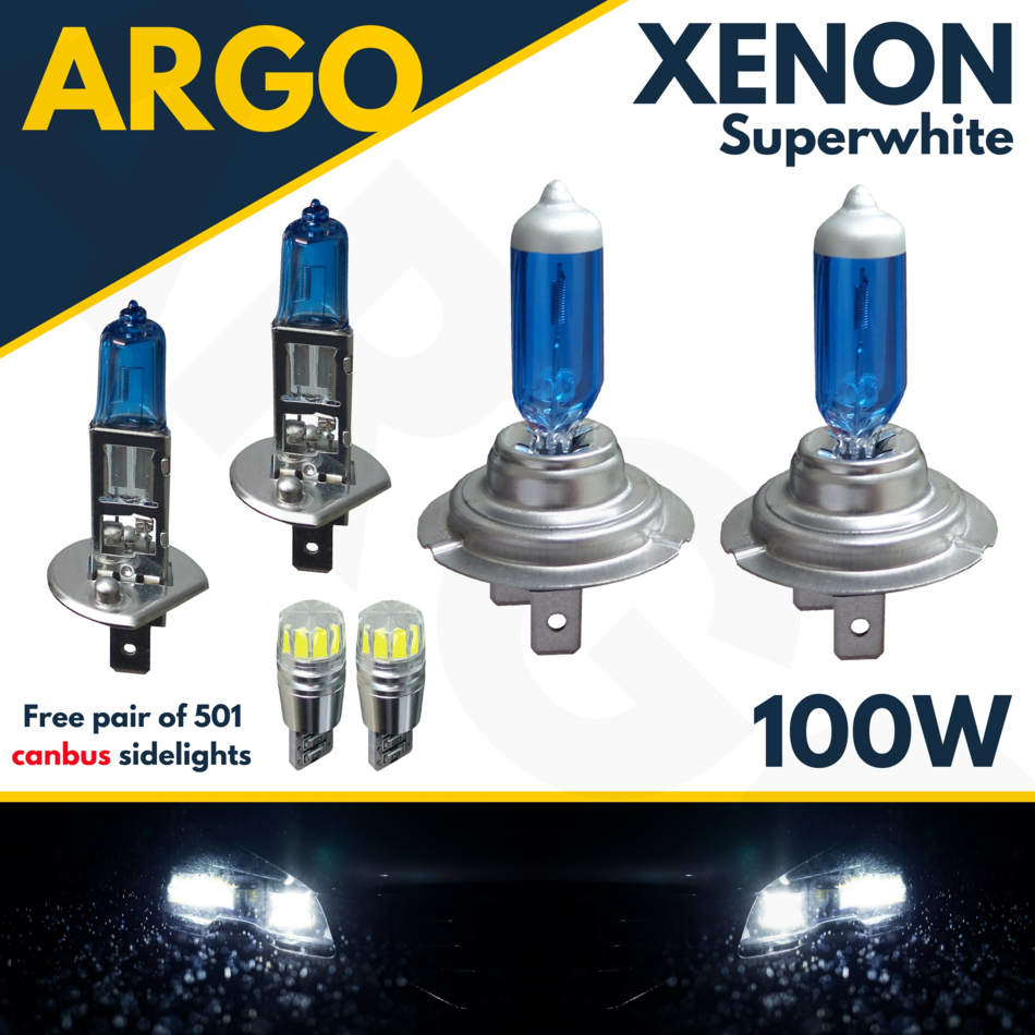Xenon H1 H7 T10 100W Super White headlight Upgrade Set For Vauxhall Zafira