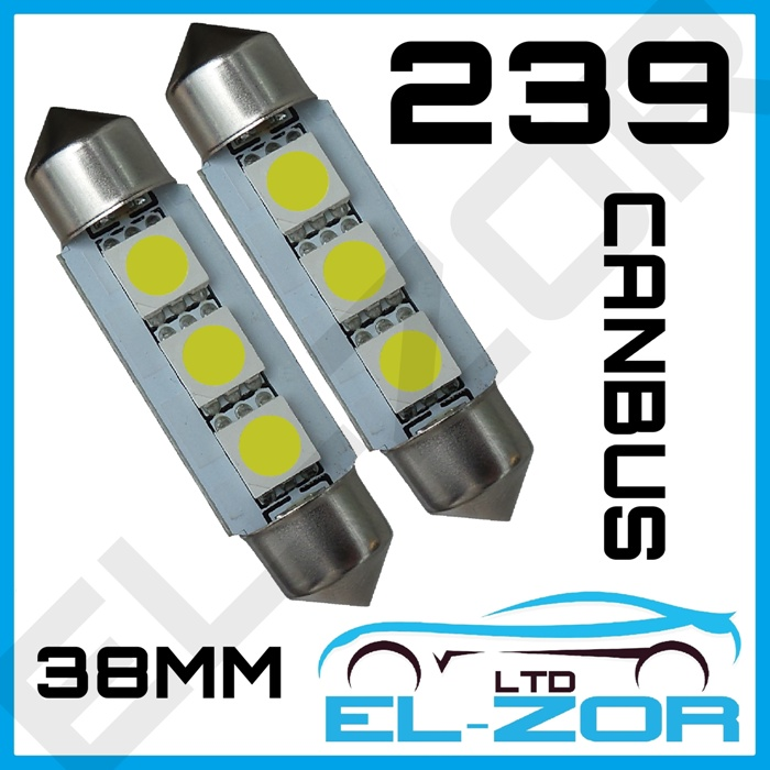 10x 3 SMD LED 36mm Xenon Blanc Canbus Number Plate Light feston ampoule led